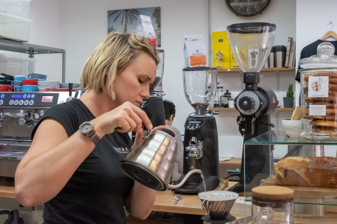 Mistral specialty coffee roasted in Palma