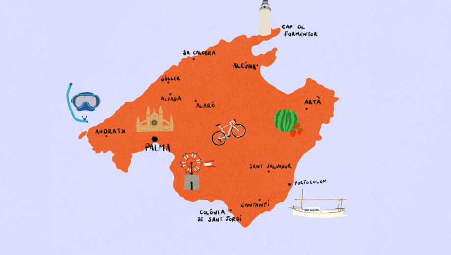 Best things to do on Mallorca MAP